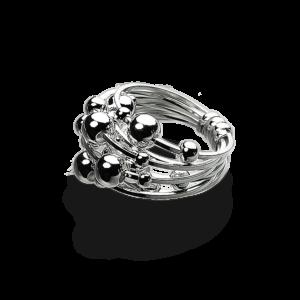 Купити каблучку срібна 4К875