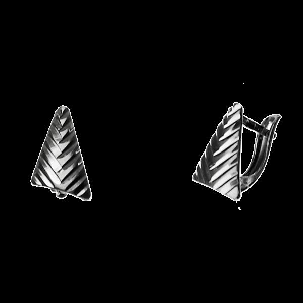 Купити сережки англійський замок 5С165, пробою 925 – Срібний шлях