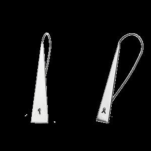 Купити сережки подовжені на петлі 4C690, пробою 925 - Срібний шлях