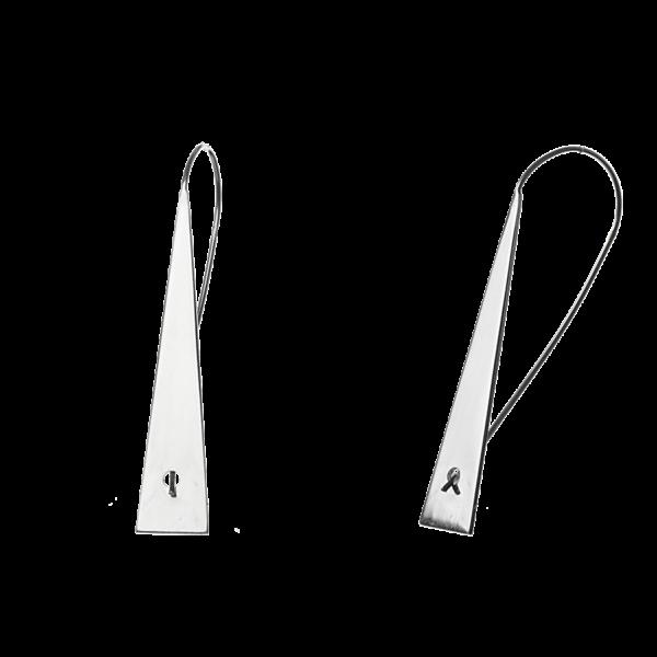 Купити сережки подовжені на петлі 4C690, пробою 925 – Срібний шлях