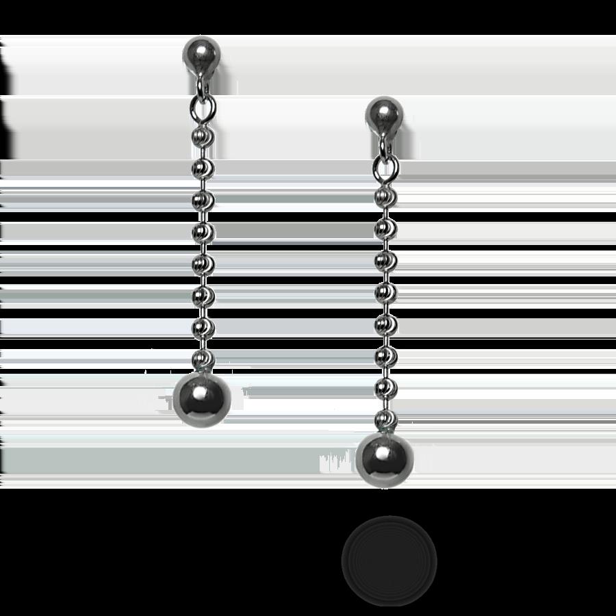 Купити сережки гвоздики 5С245, пробою 925 - Срібний шлях
