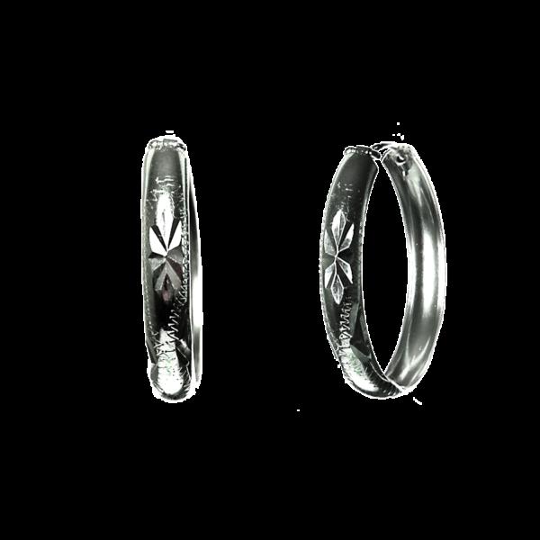 Купити сережки кільця 5С600, пробою 925 – Срібний шлях