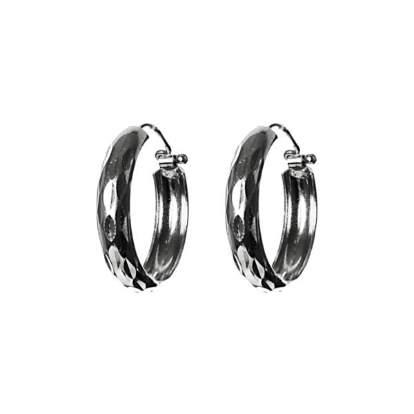 Купити сережки кільця 5С385, пробою 925 – Срібний шлях