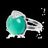 Купити каблучку кошаче око фіаніт 6К580