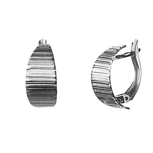 Купити сережки англійський замок 5С255, пробою 925 - Срібний шлях