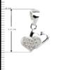 купити Підвіску сердечки оздоблені фіанітами 6П105-В, проба 925