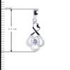 купити підвіску фантазія з фіанітами 6П120-В, проба 925