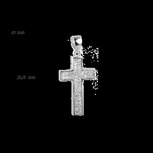 купити Підвіску хрестик оздоблений маленькими фіанітами 6П125-С, проба 925