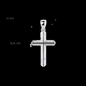 купити підвіску хрестик оздоблений маленькими фіанітами 6П130-D, проба 925