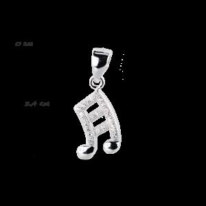 купити Підвіску нота оздоблена фіанітами 6П140-D, проба 925