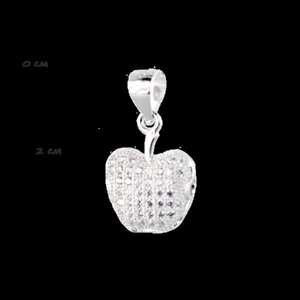 упити Підвіску яблоко оздоблено фіанітами 6П140-C, проба 925