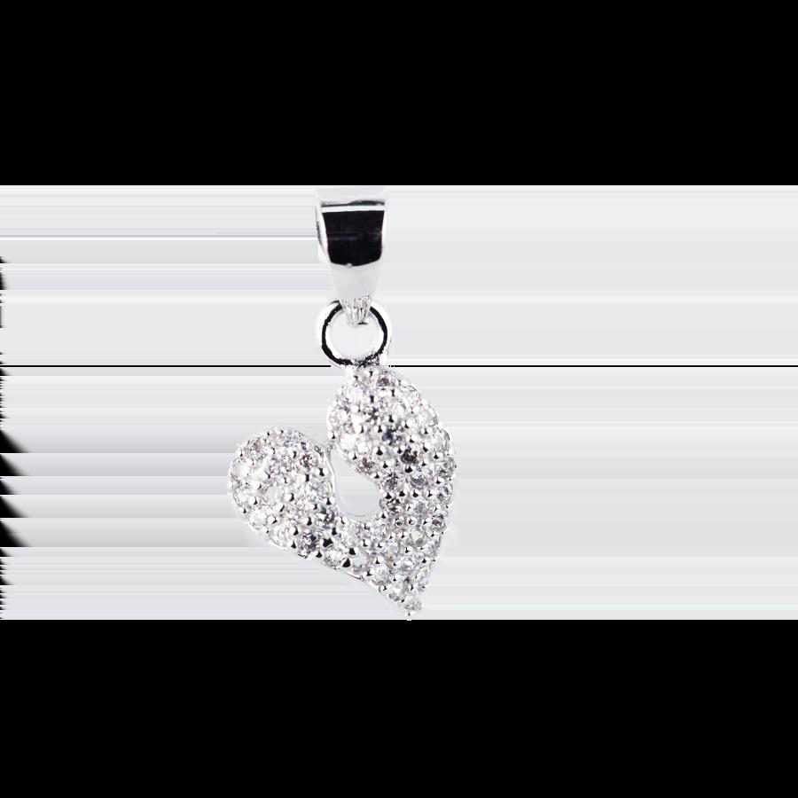 Купити Підвіску серце оздоблено фіанітами 6П150-А