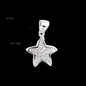 купити Підвіску зірка оздоблено фіанітами 6П150-В, проба 925