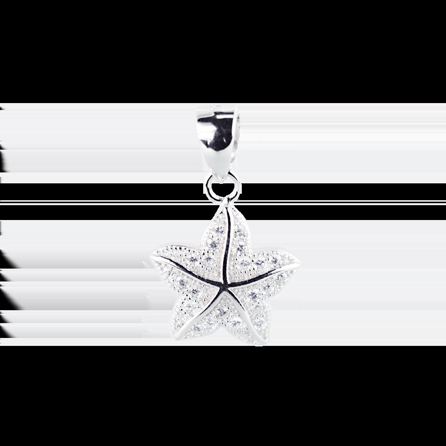 Купити Підвіску зірка оздоблено фіанітами 6П155-А