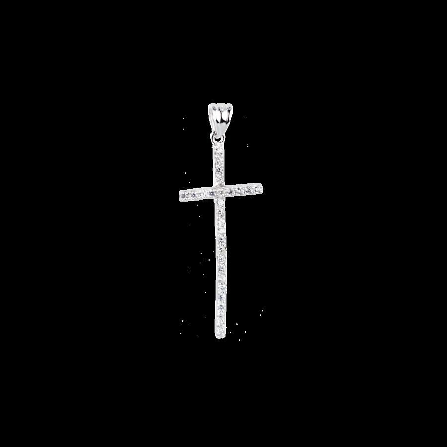 Купити Підвіску хрестик оздоблений маленькими фіанітами 6П160