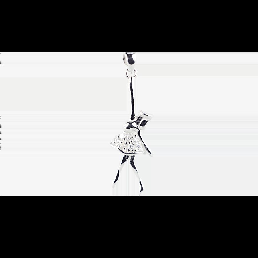 Купити Підвіску балерина оздоблена фіанітами 6П185