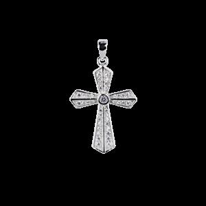 Купити Підвіску хрестик оздоблений фіанітами 6П265