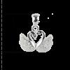 купити Підвіску пара лебедів оздоблена фіанітами 6П280, проба 925