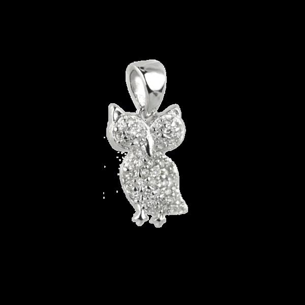 Купити Підвіску сова оздоблений фіанітами 7П100-А