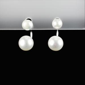 Купити Сережки з перлиною культивованою - пірсінг