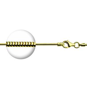 """Ланцюжок покритий позолотою плетіння """"Снейк"""", 45см, 3.85гр"""