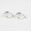 Купити, сережки на англійському замку,александрит краплею в обрамленні фіанітів фото 2