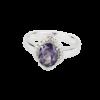 Купити, Каблучка, овальний александрит в обрамлені фіанітів – Ювелірний магазин Срібний шлях